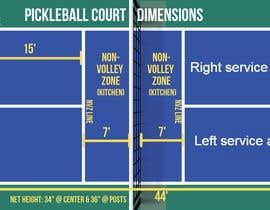 Nro 2 kilpailuun Pickleball court indoor environment mock-up käyttäjältä AhmadAlsmadi