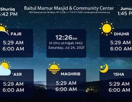 Číslo 10 pro uživatele Design a digital notice board for displaying in Mosque od uživatele dulaldesigner