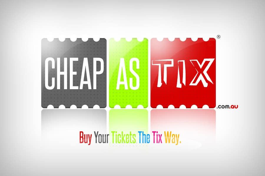 Contest Entry #41 for Logo Design for Cheap As TIX