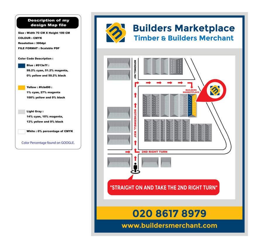 Konkurrenceindlæg #                                        35                                      for                                         Design a Direction Poster Map for Business