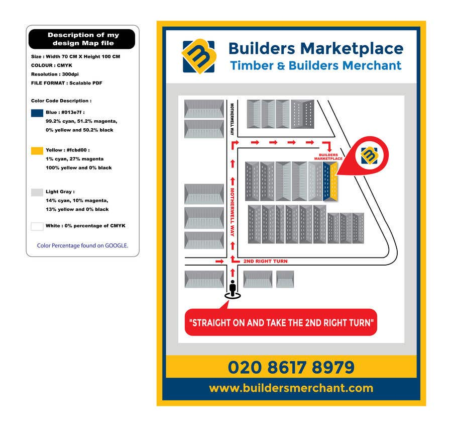 Konkurrenceindlæg #                                        36                                      for                                         Design a Direction Poster Map for Business