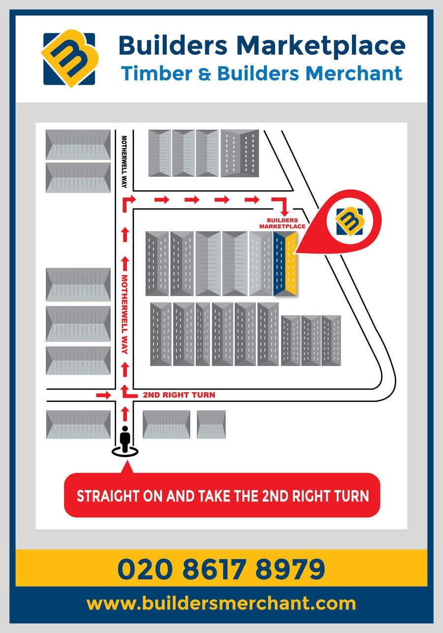 Konkurrenceindlæg #                                        43                                      for                                         Design a Direction Poster Map for Business