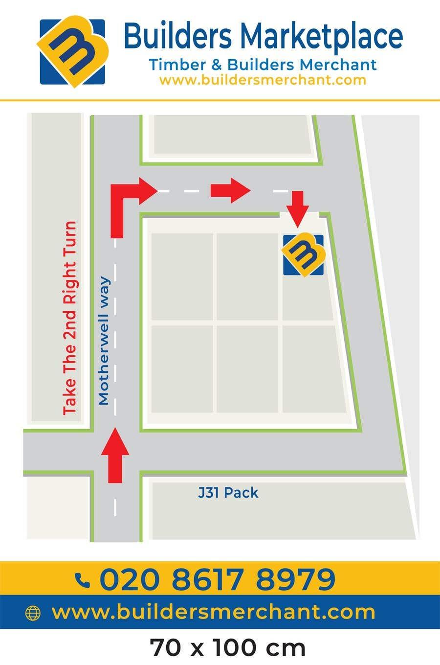 Konkurrenceindlæg #                                        19                                      for                                         Design a Direction Poster Map for Business