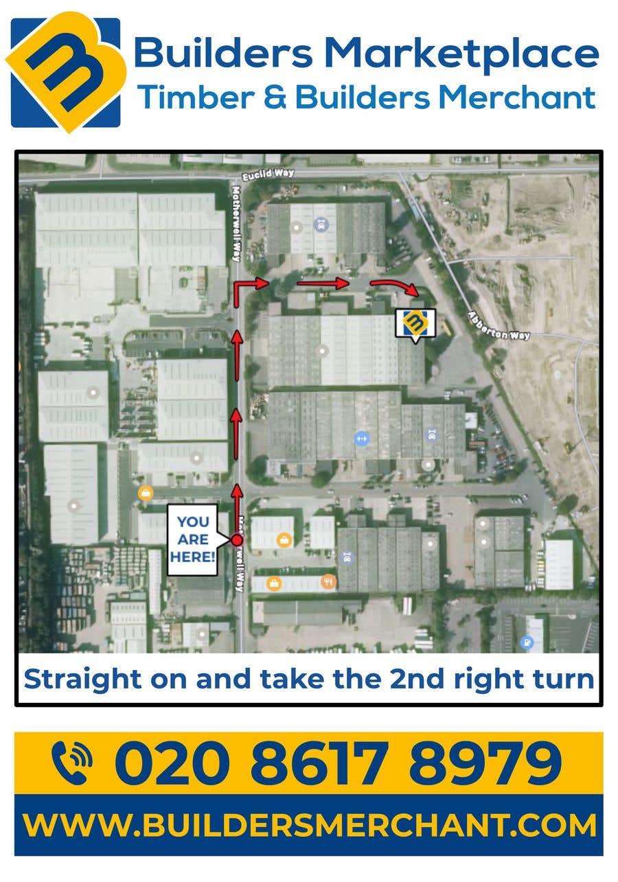 Konkurrenceindlæg #                                        30                                      for                                         Design a Direction Poster Map for Business