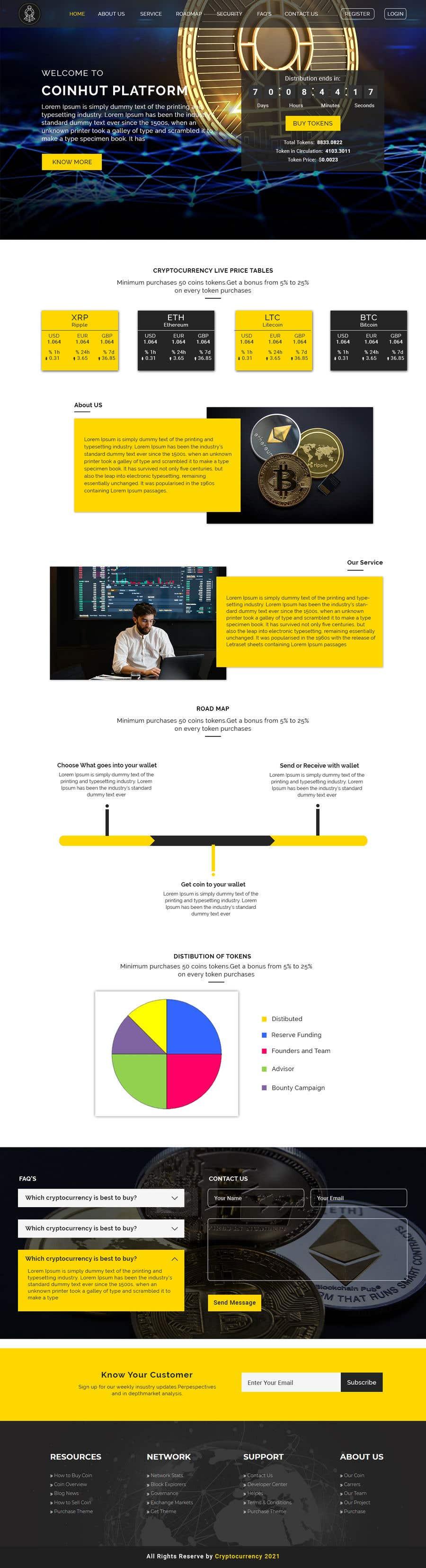 Kilpailutyö #                                        28                                      kilpailussa                                         Website for our Crypto Token (train rails)