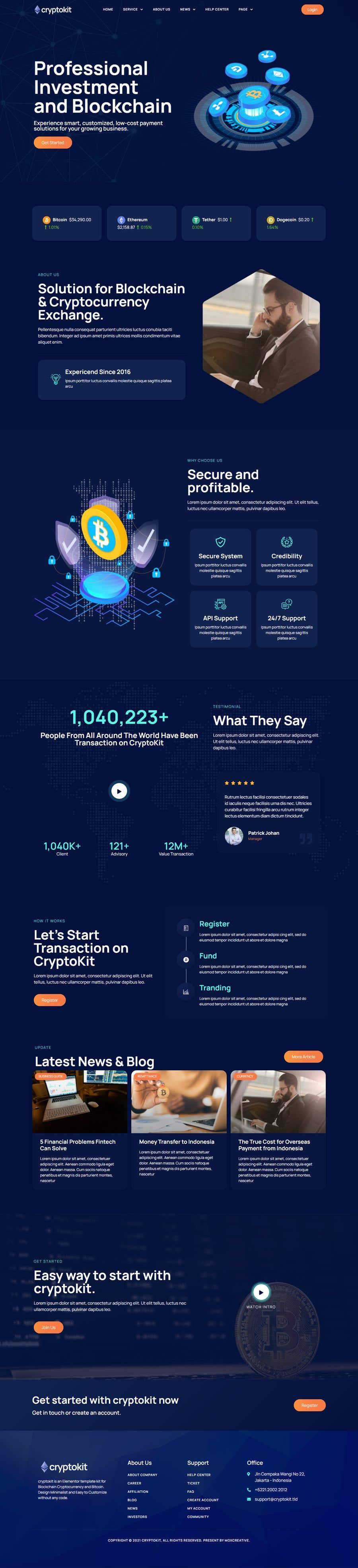 Kilpailutyö #                                        3                                      kilpailussa                                         Website for our Crypto Token (train rails)