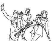 Illustrator Contest Entry #4 for A simple illustration of a band