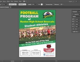 #57 for Create a Football program ad for our business by bestdesign9