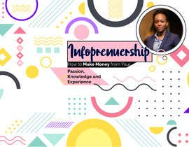 nº 14 pour Digital Course Cover Background Image  with Geometric Elements and My image par zannatul208