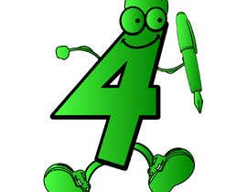 #38 for Caricature of the number '4' to illustrate a puzzle book af naeemarfankhan1