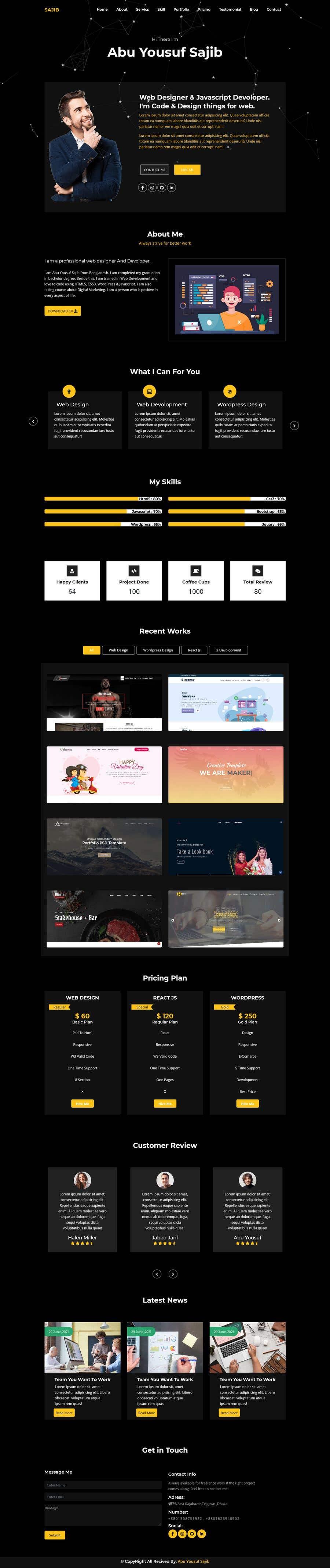 Kilpailutyö #                                        2                                      kilpailussa                                         Experienced needed for my three page website