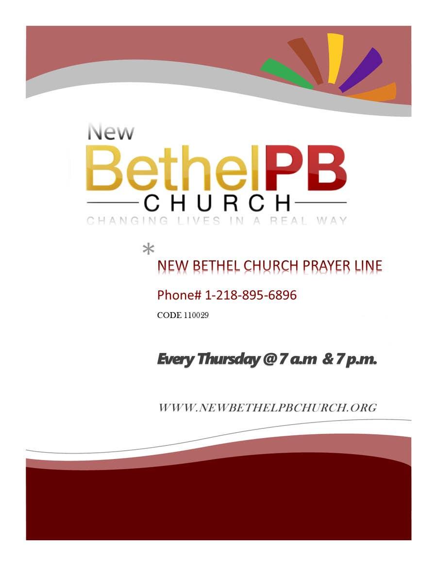 Konkurrenceindlæg #2 for Prayer Line Flyer