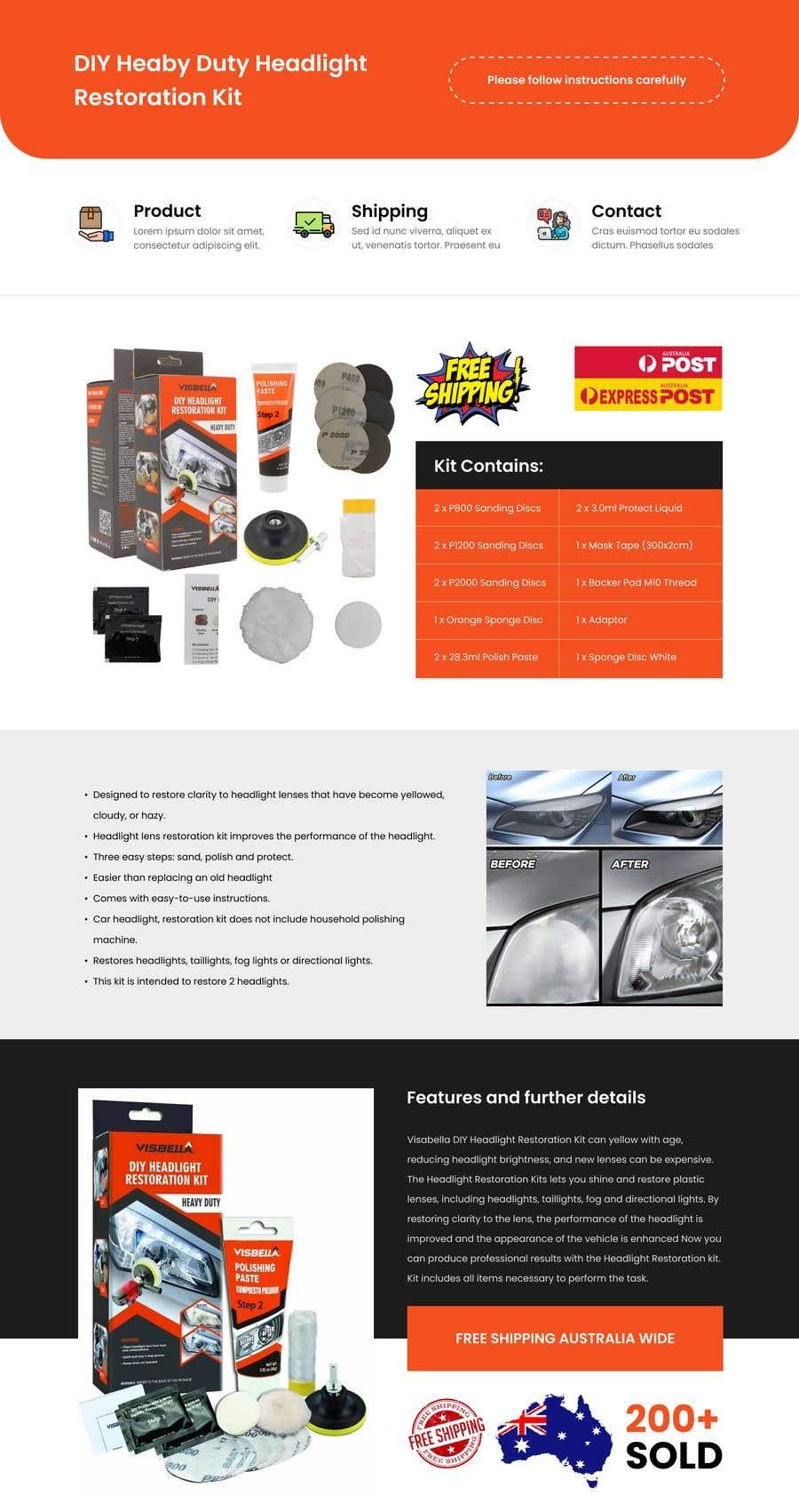Proposition n°                                        9                                      du concours                                         Headlight Restoration kit