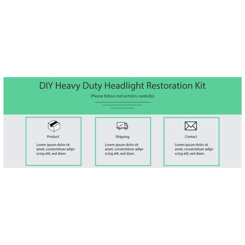 Proposition n°                                        14                                      du concours                                         Headlight Restoration kit