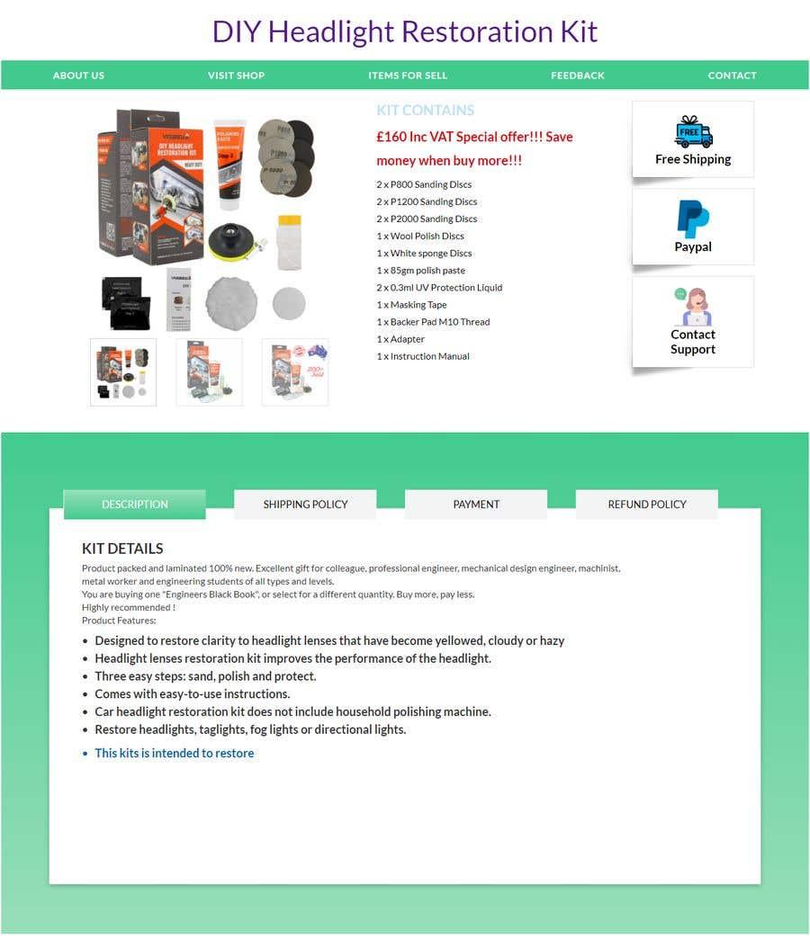 Proposition n°                                        2                                      du concours                                         Headlight Restoration kit