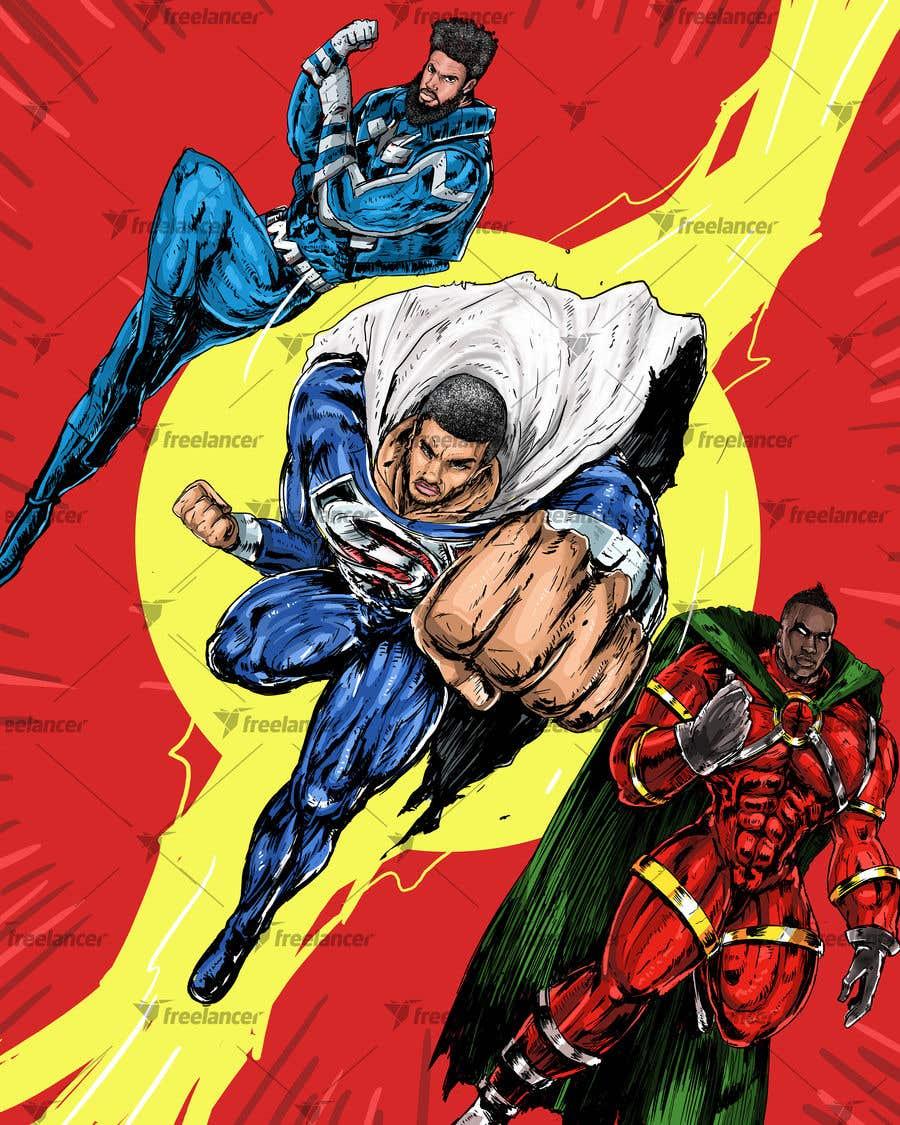Inscrição nº                                         23                                      do Concurso para                                         Recreate 3 Superheroes - High Quality Photoshop or Illustrator Art