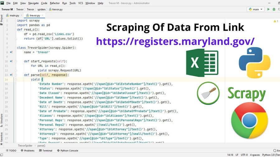 Proposition n°                                        9                                      du concours                                         Project Title: Web scraping using Python.