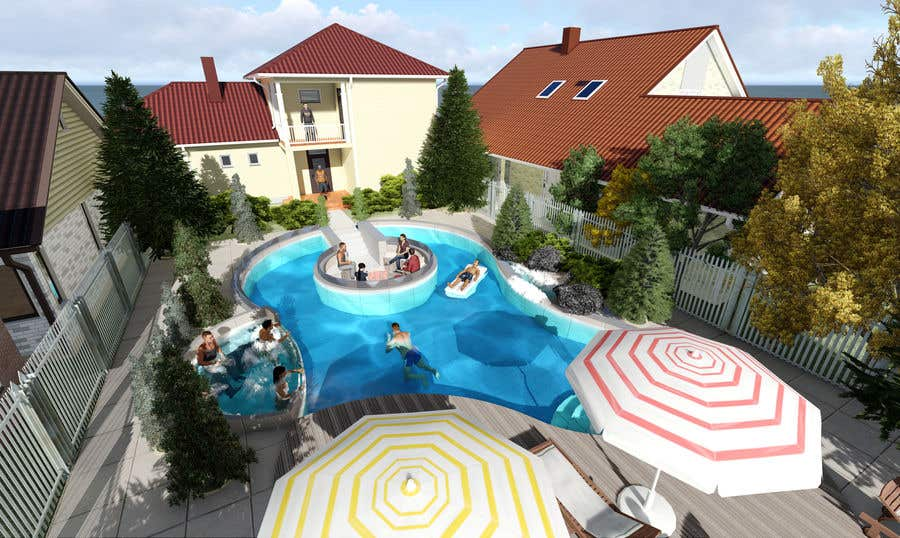 Proposition n°                                        48                                      du concours                                         Do 3d render for pool in sketchup, vray,  lumion or similar softwares.