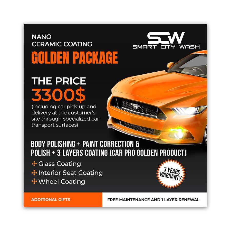 Kilpailutyö #                                        17                                      kilpailussa                                         Price Board and IG Post Design for Car Wash Shop