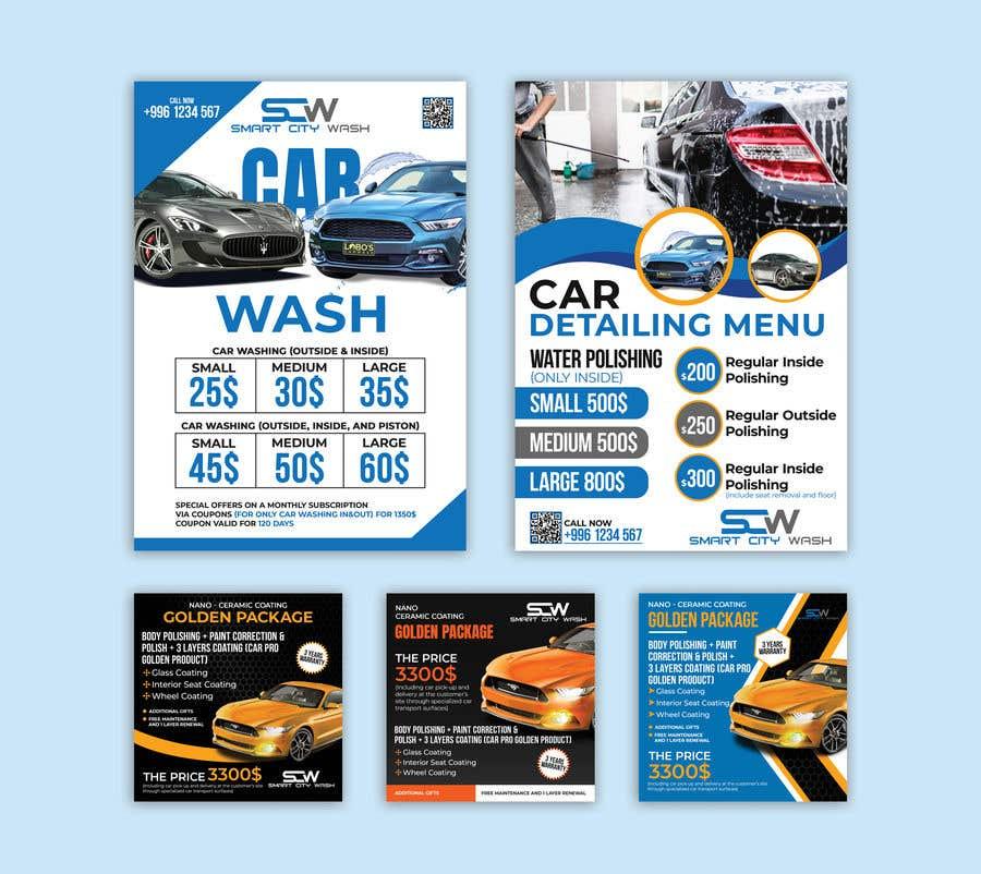 Penyertaan Peraduan #                                        20                                      untuk                                         Price Board and IG Post Design for Car Wash Shop