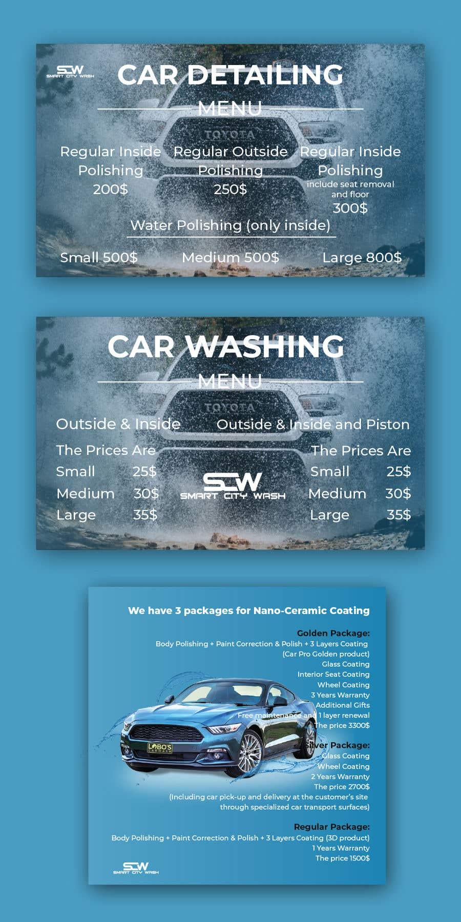 Penyertaan Peraduan #                                        27                                      untuk                                         Price Board and IG Post Design for Car Wash Shop