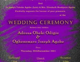 Nro 5 kilpailuun create wedding invitation card käyttäjältä Ajaymkwn