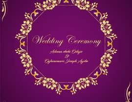 Nro 4 kilpailuun create wedding invitation card käyttäjältä akhilabony2021