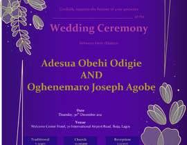 Nro 24 kilpailuun create wedding invitation card käyttäjältä mdtutul07
