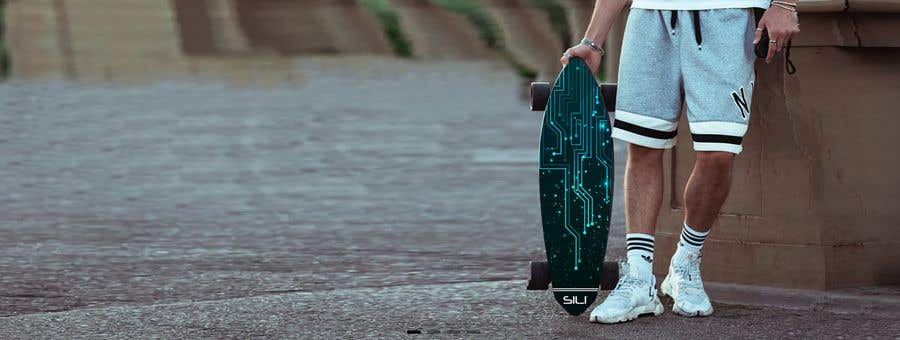 Proposition n°                                        22                                      du concours                                         Design Electric Skateboard Grip Tape (top of skateboard)