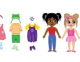 Nro 57 kilpailuun Illustration of cute little girls with outfit käyttäjältä praptishah29