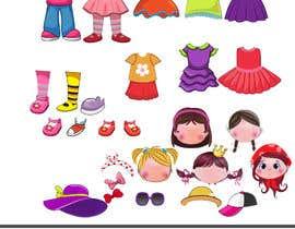 Nro 42 kilpailuun Illustration of cute little girls with outfit käyttäjältä sattarrahmani