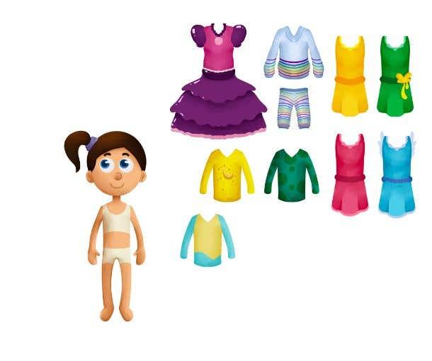 Penyertaan Peraduan #                                        37                                      untuk                                         Illustration of cute little girls with outfit