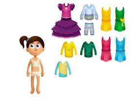 Nro 37 kilpailuun Illustration of cute little girls with outfit käyttäjältä ScottCoyotte
