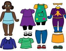 Nro 39 kilpailuun Illustration of cute little girls with outfit käyttäjältä SoraJen7375