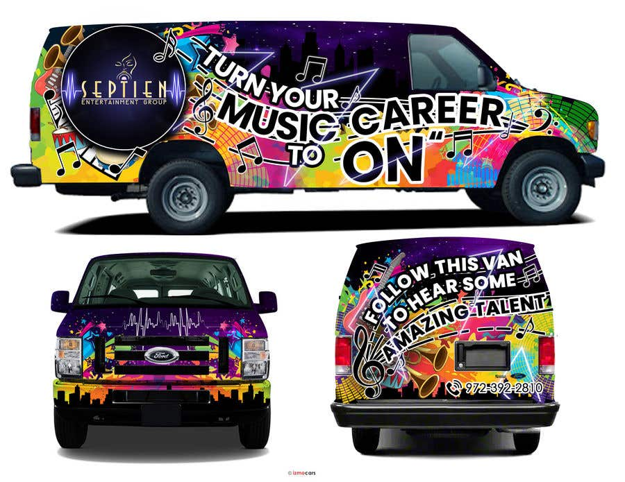 Bài tham dự cuộc thi #                                        83                                      cho                                         Van wrap design  for an entertainment company