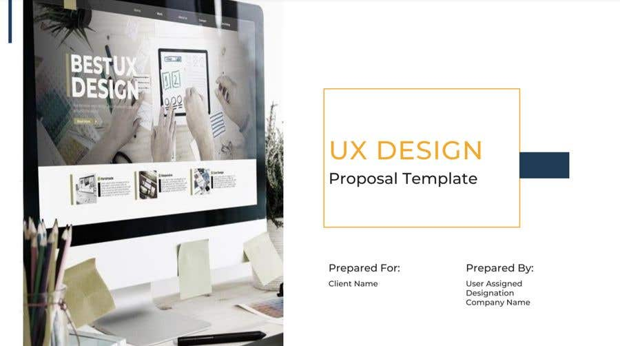 Proposition n°                                        14                                      du concours                                         Need a Project Kickoff PPT presentation for UX Design project