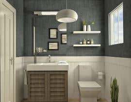 #32 cho Half bath interior design in 3d - coastal transitional design style bởi loreliojeda