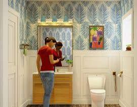 #22 cho Half bath interior design in 3d - coastal transitional design style bởi adeebarch017