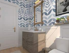 #25 cho Half bath interior design in 3d - coastal transitional design style bởi Eng3mr645