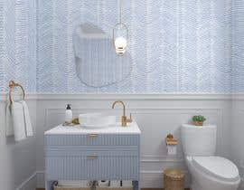 #40 cho Half bath interior design in 3d - coastal transitional design style bởi anasg6