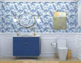 #35 cho Half bath interior design in 3d - coastal transitional design style bởi rabisottou
