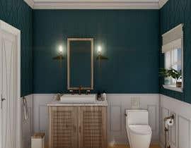 #28 cho Half bath interior design in 3d - coastal transitional design style bởi aliarchviz96