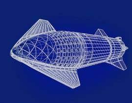 #56 for Blue Print design of Space X Starship Rocket af Akshat1219