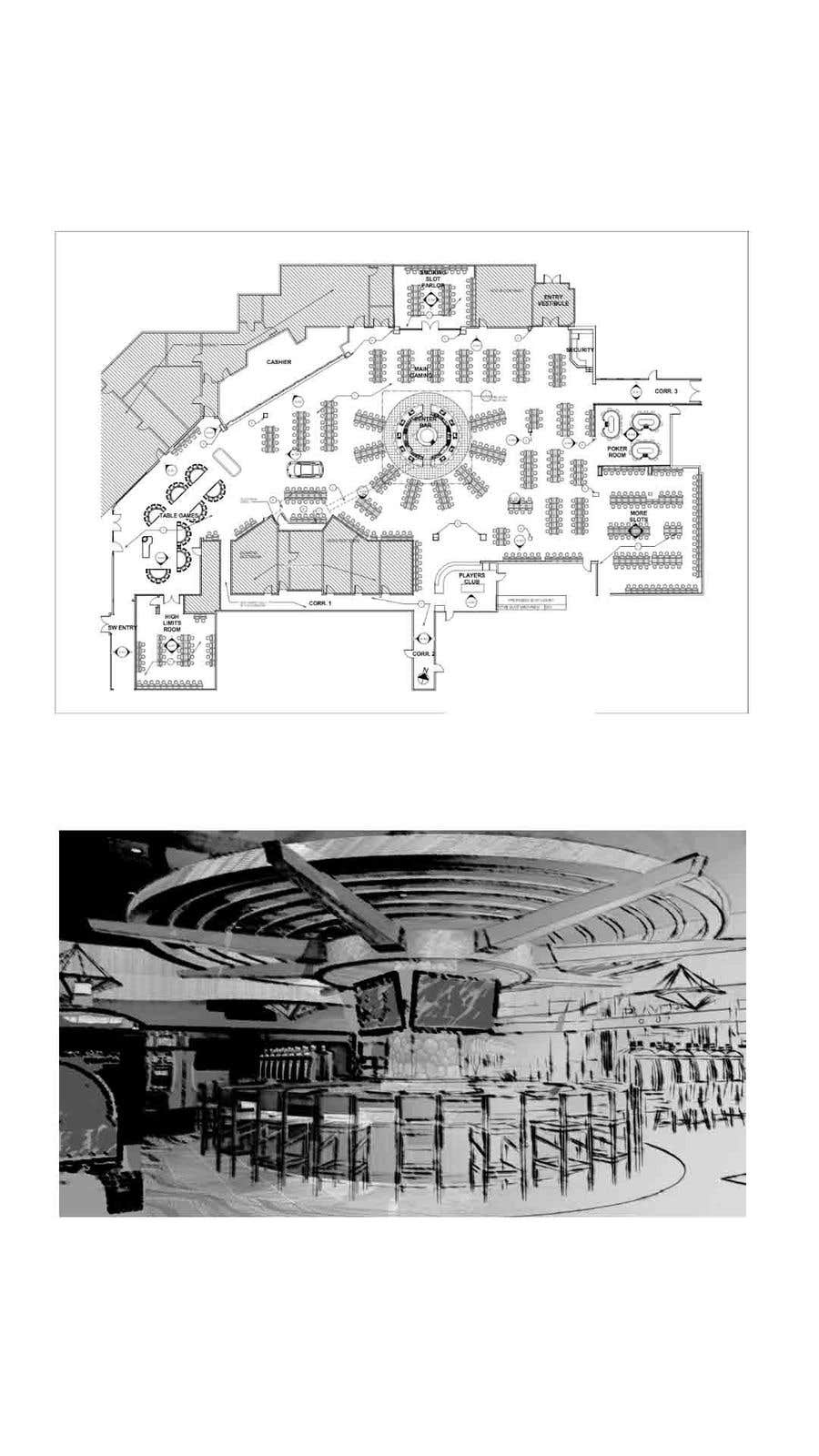Konkurrenceindlæg #                                        10                                      for                                         Casino Floor Plan and concept design