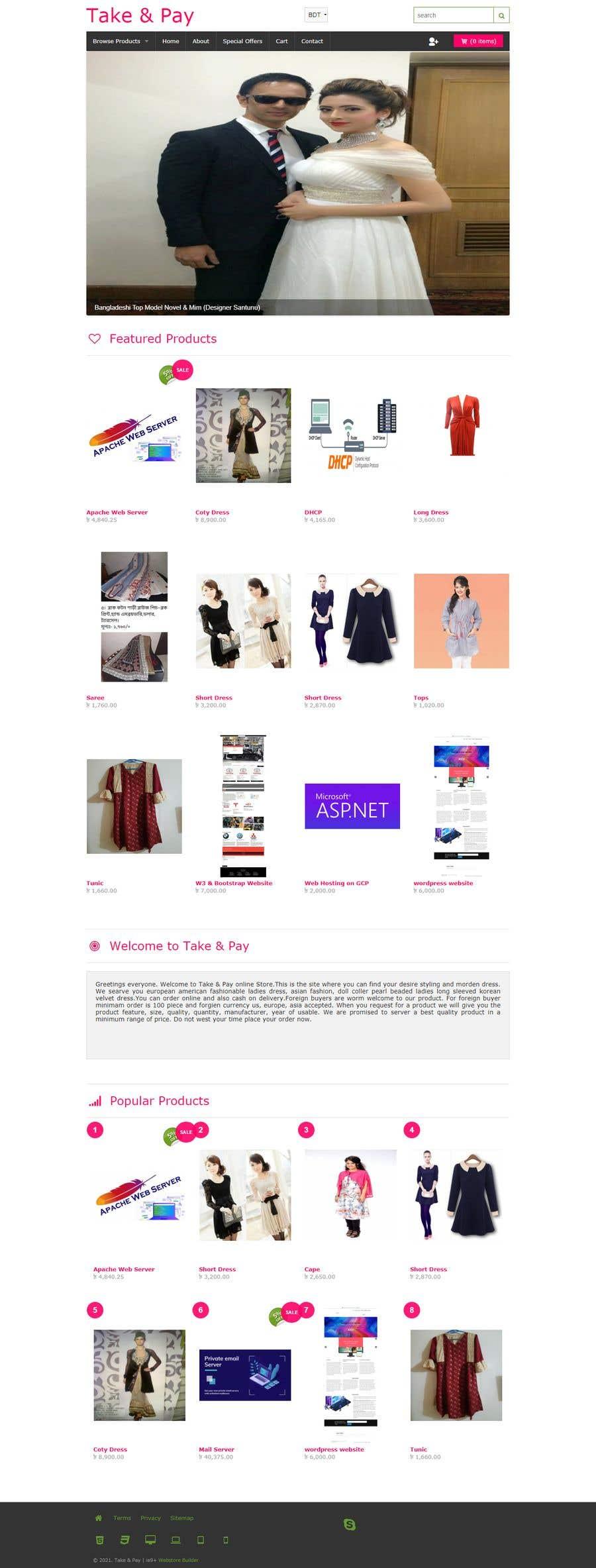 Kilpailutyö #                                        48                                      kilpailussa                                         Create a website (online store e-Commerce) ***NO WORDPRESS ALLOWED***