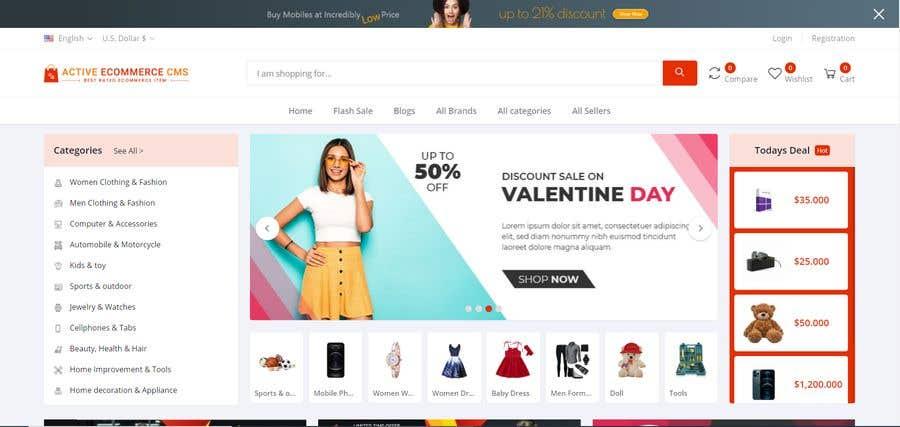 Kilpailutyö #                                        46                                      kilpailussa                                         Create a website (online store e-Commerce) ***NO WORDPRESS ALLOWED***
