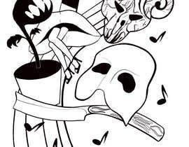 #17 untuk Neo Traditional, Musical Themed Tattoo oleh angelinaart