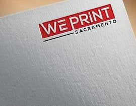 Nro 57 kilpailuun We Print Sacramento Logo käyttäjältä sabujmiah552