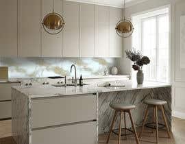Nro 19 kilpailuun Create realistic visualisation of kitchen glass splashback with gold effect käyttäjältä ShahMax