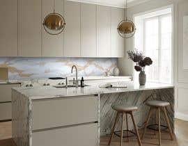 Nro 25 kilpailuun Create realistic visualisation of kitchen glass splashback with gold effect käyttäjältä Taha216